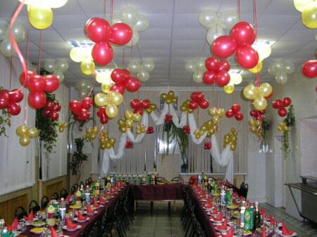 Как украсить зал для юбилея своими руками фото